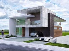 Modern Exterior Homes When you think of building a new home you are faced with two choices, build a traditional house or choose a modern house plan. Because the word modern means 'current for… Architecture Minecraft, Modern Architecture House, Residential Architecture, Architecture Design, Minimalist Architecture, Architecture Student, Villa Design, Facade Design, Exterior Design