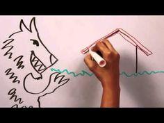 LOS TRES CERDITO Y EL LOBO FEROZ en español cuento infantil - YouTube