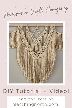 Macrame Plant Hanger Patterns, Free Macrame Patterns, Macrame Wall Hanging Patterns, Large Macrame Wall Hanging, Macrame Art, Macrame Design, Macrame Projects, How To Macrame, Wool Wall Hanging