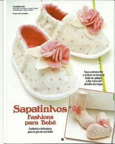 sapatinhos - gratis Schnittmuster - tutorial and free pattern