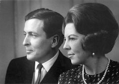 Beatrix, the former queen regnant of the Kingdom of the Netherlands and her husband, the German diplomat Claus von Amsberg