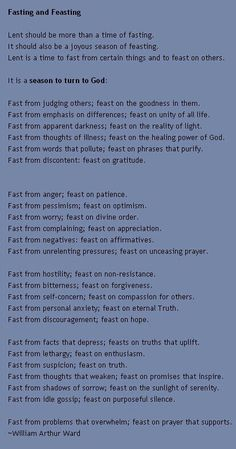 Fast and Feast