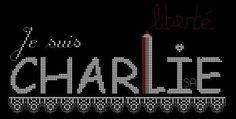 Les brodeuses rendent hommage à Charlie ...  Isa. VAUTIER  7 janvier 2015