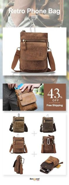 US$26.99 + Free Shipping. Genuine Leather Waist Bag First Layer Leather Leisure Retro Phone Bag Crossbody Bag For Men. Color: Coffee, Brown, Khaki, Yellow Coffee, Deep Brown.