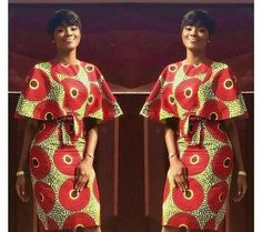 Items similar to African short dress with flare shoulder, ankara print, African party dress, African clothing on Etsy African Party Dresses, African Print Dresses, African Fashion Dresses, African Dress, Ankara Fashion, African Prints, Ankara Dress, African American Fashion, African Print Fashion