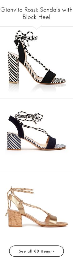 """""""Gianvito Rossi: Sandals with Block Heel"""" by livnd ❤ liked on Polyvore featuring sandals, GianvitoRossi, livndshoes, livndgianvitorossi, shoes, high heel shoes, chunky high heel sandals, suede shoes, open toe slingback and canvas shoes"""