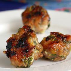 Vietnamese Chicken Meatballs by theyumyumfactor: Great for lettuce wraps. #Meatballs #Chicken #Vietnamese