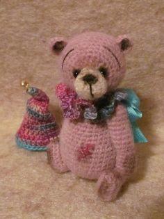 Miniature Thread Artist Crochet Teddy Bear PATTERN by BayouBears