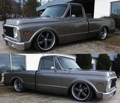I seriously enjoy this paint color for this car Silverado Truck, Custom Chevy Trucks, C10 Trucks, Chevy Pickup Trucks, Chevy C10, Chevy Pickups, Chevrolet Trucks, Lowered Trucks, Classic Pickup Trucks