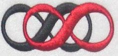 Double Infinity Embroidery Designs | Apex Embroidery Designs, Monogram Fonts & Alphabets