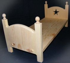 Stackable Wooden Doll Bed 18 inch American Girl Doll Furniture DIY Ready to Paint or Stain. $23.00, via Etsy.