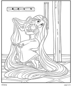 tangled coloring pages printable - Tangled Coloring Pages Girls