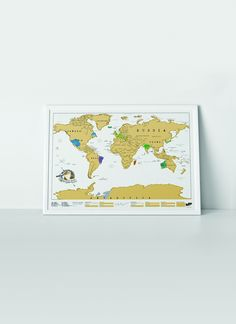 Amazon.com : Luckies of London Scratch Map (USLUSCR) : Wall Maps : Office Products