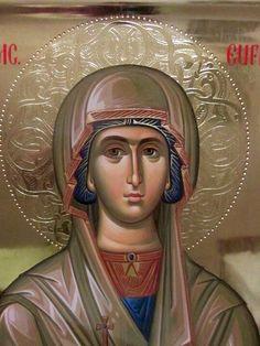 St. Euphemia Byzantine Icons, Byzantine Art, Russian Icons, Icon Collection, Orthodox Icons, Sacred Art, Religious Art, Lovers Art, Christianity