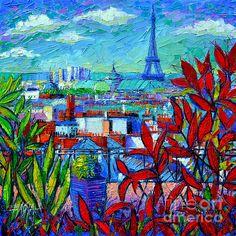 Paris Rooftops by Mona Edulesco