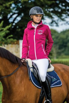The Mountain Horse Tiffany Softshell Jacket is lightweight, stylish, and water resistant.  The Tiffany effectively wicks away moisture, keeping you dry and comfortable.  MSRP $119.  Available at your favorite tack shop or online retailer now.