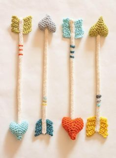 knit arrows. kids toys or just hunger games nerdiness