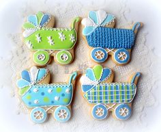baby shower boy | These cookies are decorated with royal icing.
