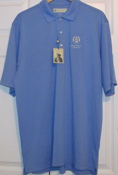 Donald Ross Men's Golf Shirt, XL, Pacific Blue,100% #50%off#golfsale,Polyester, New With Tags