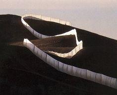 Running Fence, 1972.  Christo