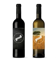 I really enjoy the chalkboard label here, gives it a very clean modern look, the white wine label on the other hand I am not a fan of. I think the image looses the effect the typography has going for it