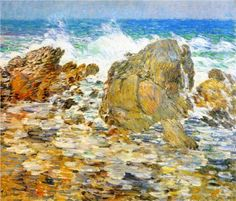 Surf, Appledore, by Frederick Childe Hassam (American, 1859-1935)