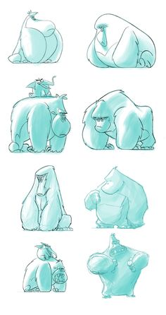 Gorilla | Conceptual development, character desig, screen... by DAVID MARCELO ZAMORA, via Behance