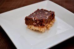 chocolate coconut tart bars.  Crust looks fantastic.