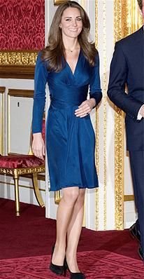 Other than her wedding dress, this is one look you won't forget. To announce her engagement to Prince William, she chose a sapphire wrap dress by Issa, a color that matched her sparkly new ring. The dress sold out immediately in stores after she wore it.
