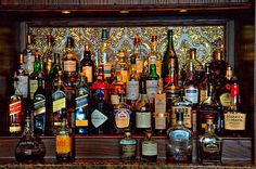 #Bars #Liquor #BarShots - Bar scene taken at the Sagamore Resort on Lake George - Bolton Landing, New York. This would make a wonderful image for ones Bar or Man Cave!