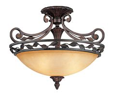 Scavo Leaf and Vine Bronze 21 Wide Ceiling Light Fixture - $250.00, good for 3 bedrooms. This is $75.00 over budget for each room.