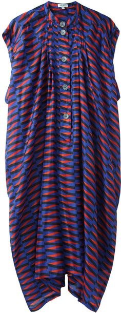 Kenzo / Printed Silk Shirtdress $370.00 thestylecure.com