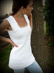 This tank is flattering and easy to make! (LionBrand.com)