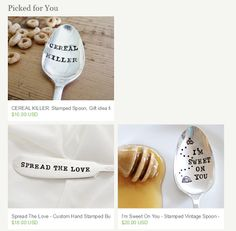 funky sports stuff - Google Search Cereal Killer, Stamped Spoons, Google Search, Tableware, Kitchen, Sports, House, Vintage, Ideas