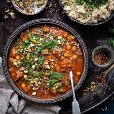 This aromatic Moroccan lamb tagine is easy to make in your Instant Pot, slow cooker or stovetop. Serve with couscous, rice or mashed potatoes for a hearty and delicious meal. Morrocan Food, Moroccan Dishes, Couscous Recipes, Couscous Rice, Lamb Tagine Recipe, Lamb Tagine Slow Cooker, Beef Tagine Recipes, Tagine Cooking, Lamb Tagine With Apricots