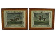 19th-C. Equestrian Prints, Pair on OneKingsLane.com