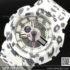 Casio Baby-G Analog Digital Leopard Pattern Sport Watch BA-110LP-7A, BA110LP
