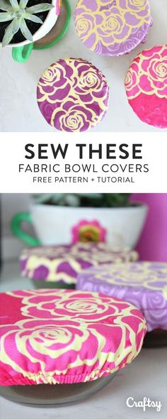 Fabric bowl covers are less wasteful than plastic wrap to cover leftovers. Create a personalized fabric bowl cover so that you can tote your side dishes to potlucks and barbecues in style. Make your own customized fabric covers with this fast and free bowl cover tutorial.