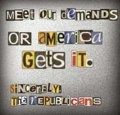 Ransom letter to America by the Republicans