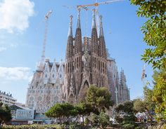 La Sagrada Familia Basilica in Barcelona - Known as the melting church.  It has been (and continues to be) constructed solely on donations.