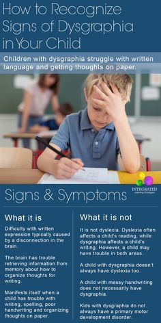 Dysgraphia: How to Recognize Signs of Dysgraphia in Your Child | ilslearningcorner.com