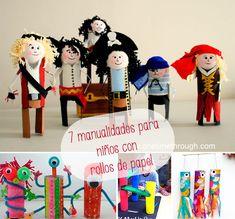 7 manualidades para niños con rollos de papel | Pequeocio.com