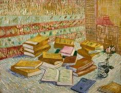 Vincent Van Gogh - The Parisian Novels Art Print. Explore our collection of Vincent Van Gogh fine art prints, giclees, posters and hand crafted canvas products Rembrandt, Vincent Van Gogh, Painting & Drawing, Painting Prints, Canvas Prints, Art Prints, Art Van, Desenhos Van Gogh, Van Gogh Still Life