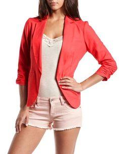 Extreme Hi-Low Linen Blazer: Charlotte Russe