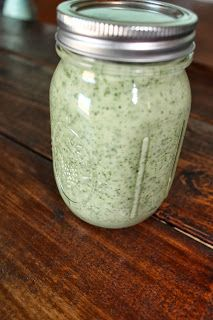 jules treats:cilantro ranch dressing