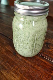 jules treats:cilantro ranch dressing