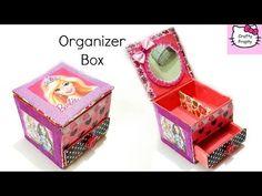 DIY Desk Organizer/DIY Organizer Box/DIY Storage box/Barbie Box - YouTube