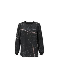 Henriette printed silk blouse in a marble print - # Q56255001 - By Malene Birger Autumn Winter 2014 - Women's fashion