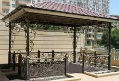 Pergola Kits Attached To House Wrought Iron Decor, Pergola Kits, Pergola Plans, Iron Art, Outdoor Living, Outdoor Decor, Steel Furniture, Home Office Design, Blacksmithing