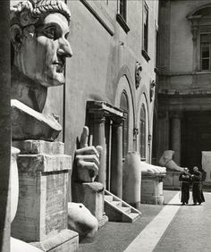 Photo by Herbert List, 1949, Courtyard of the Palace of the Conservators, Capitoline Hill, Rome.